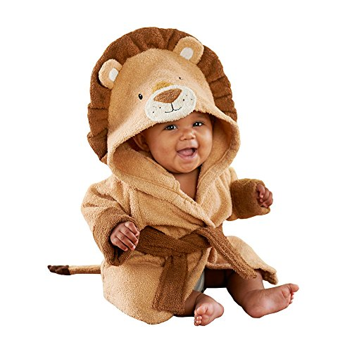 Baby Aspen Lion Hooded Spa Robe, Tan/Brown/Beige, 0-9 Months