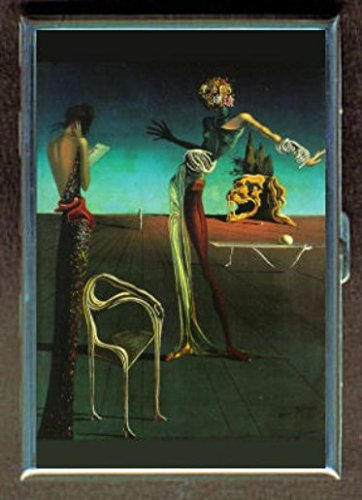 Salvador Dali Woman With Roses Stainless Steel ID or Cigarettes Case (King Size or - Dali Salvador Cigarette Case