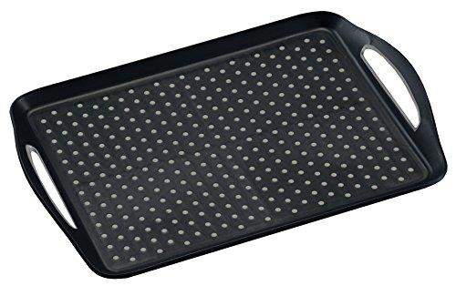 Kesper 77201 Serviertablett, rutschfest, 45 x 32 x 4,5 cm, PP-Kunststoff, schwarz