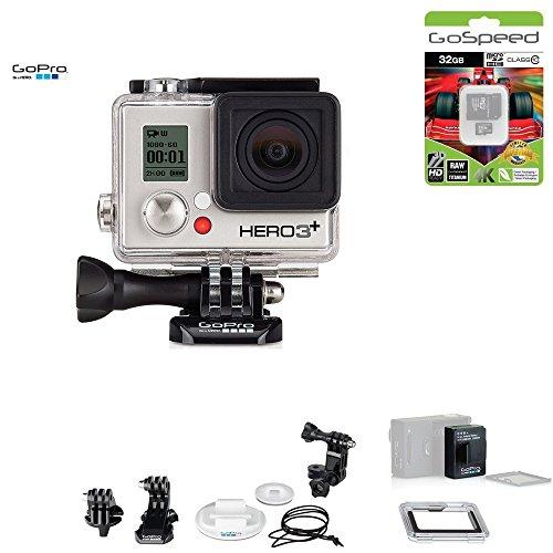 GoPro HERO3+ SILVER 10MP Full HD 1080p 60fps Built-In Wi-Fi Waterproof Wearable Camera Adventure 32GB Edition (Surf)
