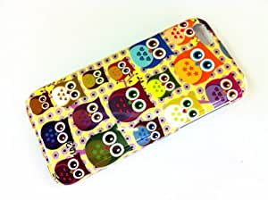 Karia® Verious Kawaii Night Owl Pattern Hard Back Case Cover For Apple Iphone 5C Yellow