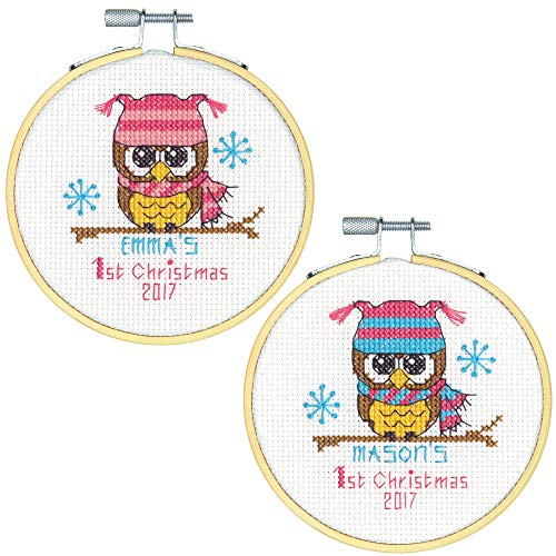 (Dimensions 'Baby's First Christmas' Counted Cross Stitch Kit, 14 Count White Aida, 4''D)