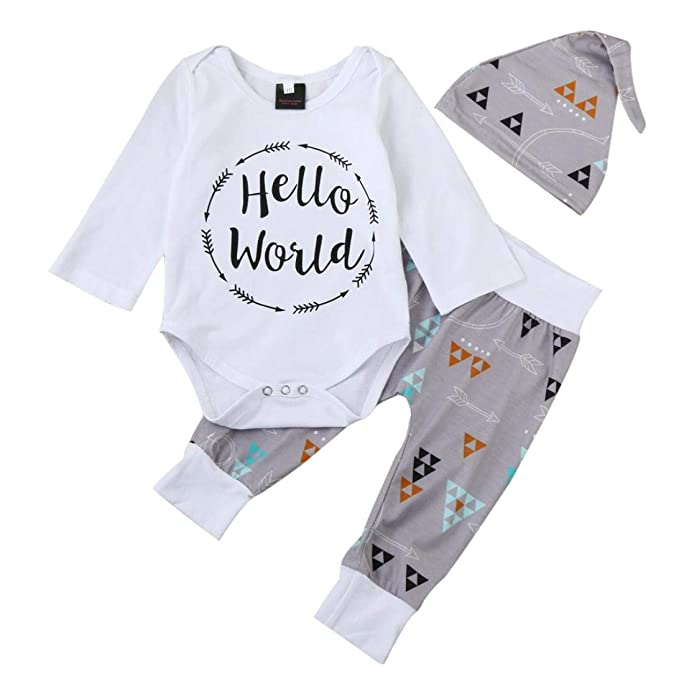 K-youth Ropa Bebe Nino Recien Nacido Otoño Invierno 2018 Ofertas Hello World Infantil Blusas