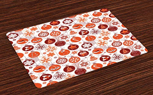 wanxinfu Doormat Welcome Entrance Mat, Classical Themed Old Fashioned Celebration Carols Winter Design Patterns Non Slip Area Rugs Shoes Scraper Home Decor Mat for Kitchen/Cafe,18x30in