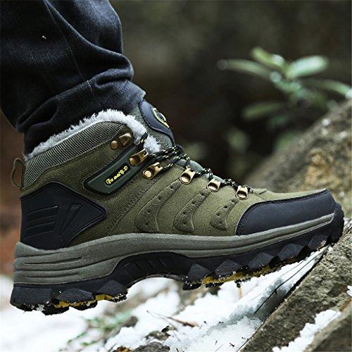 Warm Gefütterte Hohe Herren Outdoor Wanderschuhe Sports Damen Schuhe Sneakers Winterschuhe ZanYeing Grün3 Stoßdämpfung Schneestiefel Trekking 8IxtBqww