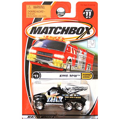 Matchbox 2001 Highway Heroes King Tow Truck Max Crash Auto Black #11