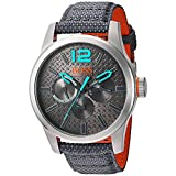 BOSS Orange Men's Quartz Stainless Steel and Resin Watch, Color:Grey (Model: 1513379)