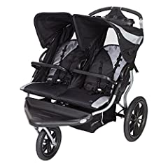 Take your family jogging with the Baby Trend Navigator Lite Double Jogging stroller that can accept two baby trend car seats (sold separately). Made for two children, this jogging stroller features composite tires and a locking front swivel w...