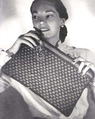 Knitted Ribbon Braid Bag Purse Knit Handbag Knitting Pattern