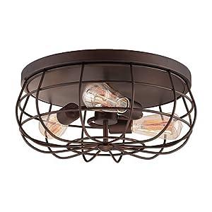 Millennium Lighting 5323-RBZ Flush Mount Ceiling Light