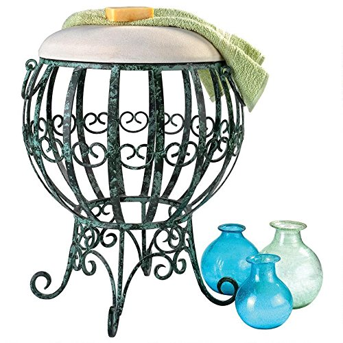 Design Toscano Le Geant Des Airs Hot Air Balloon Metal Vanity Stool