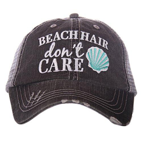 Beach Hair Don't Care SHELL Women's Trucker Hat Cap By Katydid Beach Cap
