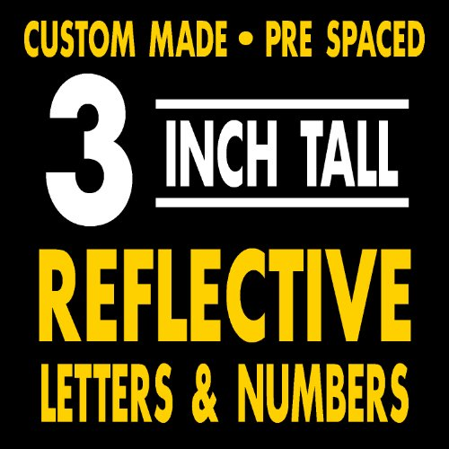 Inch 3 Number Reflective (3