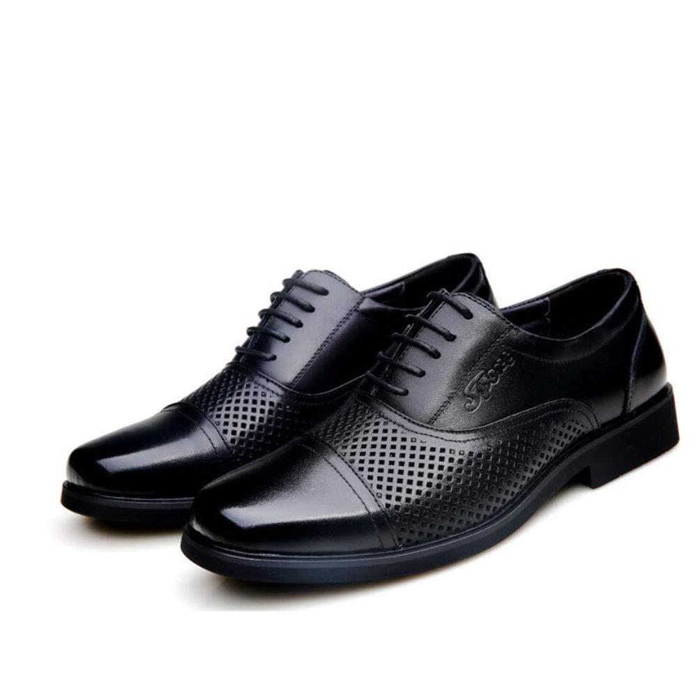 Hy Herren Freizeitschuhe Leder Frühjahr Sommer aushöhlen Fahr Schuhe atmungsaktiv Lace Up Formale Business Schuhe Büro & Karriere Party & Abend