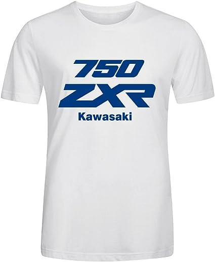 Trendy Crew Neck Anime Tee - Camiseta / Rope de Kawasaki Zxr 750 Blanco: Amazon.es: Ropa y accesorios
