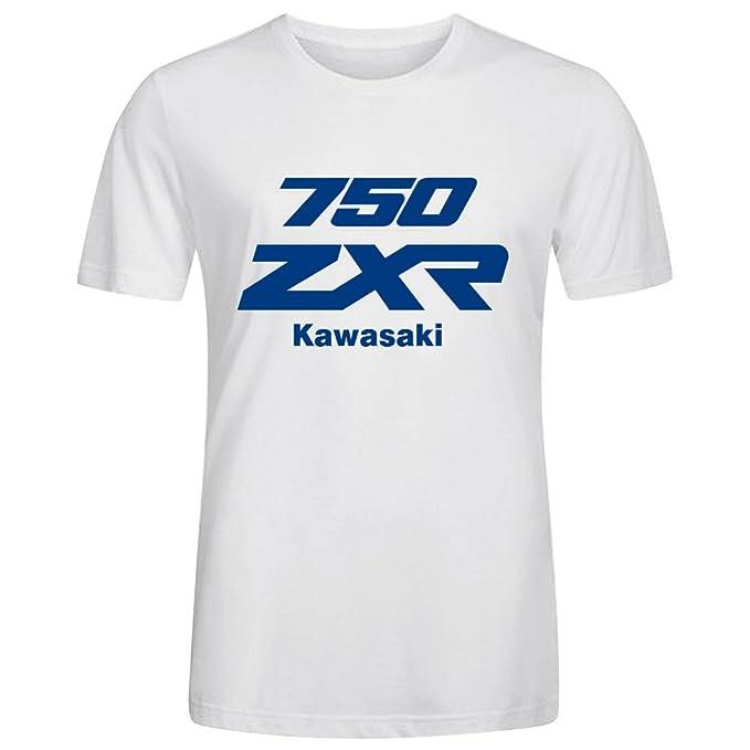 Trendy Crew Neck Anime Tee - Camiseta / Rope de Kawasaki Zxr 750 Blanco