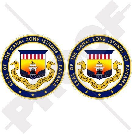 CANAL ZONE Isthmus of Panama Seal USA American 75mm (3