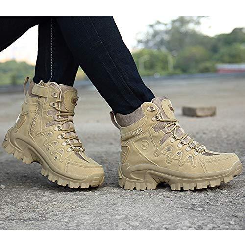 Martin Country Tactics Stivali Kakhi All'aperto Uomo Stivali Boots Stivali Maschili Alpinismo Militari Attrezzi Calzature Walking Scarpe Desert per Sportivi Cross q5Hwf6