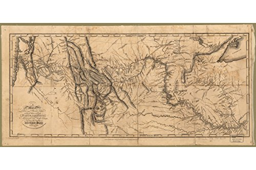 Lewis and Clark's Track Across the West; Antique Map; 1814 by History Prints