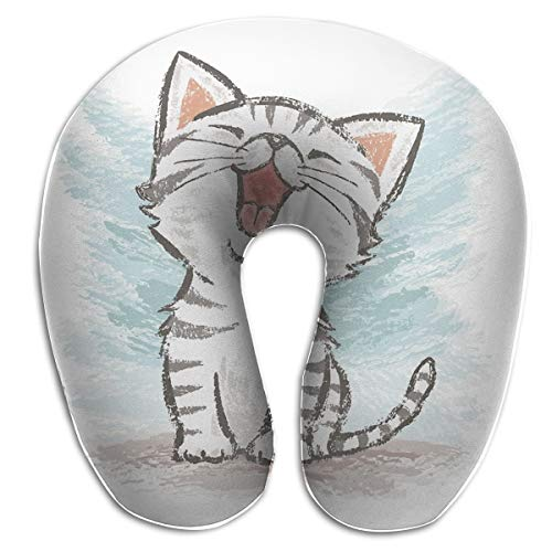 American Shorthair Happy Double-Sided U-Shaped Travel Neck Pillow Cotton Soft Pillow Slow Rebound Material Pillow