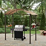 Lauderdale Outdoor 7.75W x 6.25D x 7.75H ft. Curved Hardtop Grill Gazebo For Sale