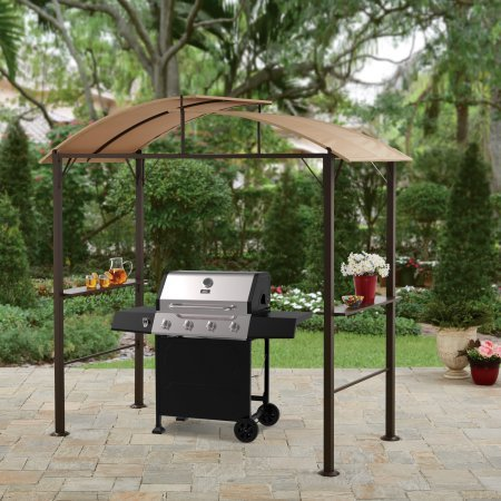 Lauderdale Outdoor 7.75W x 6.25D x 7.75H ft. Curved Hardtop Grill Gazebo