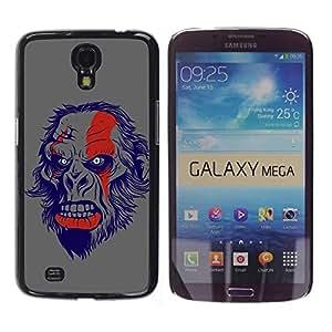 LASTONE PHONE CASE / Diseño de Delgado Duro PC / Aluminio Caso Carcasa Funda para Samsung Galaxy Mega 6.3 I9200 SGH-i527 / The Evil Monkey