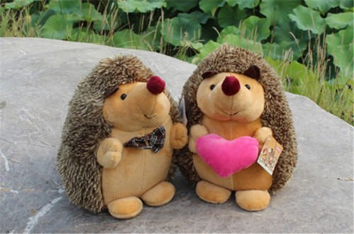 1 Pair Howie Hedgehog Plush Toys Kids Stuffed Animal Toy Doll 7