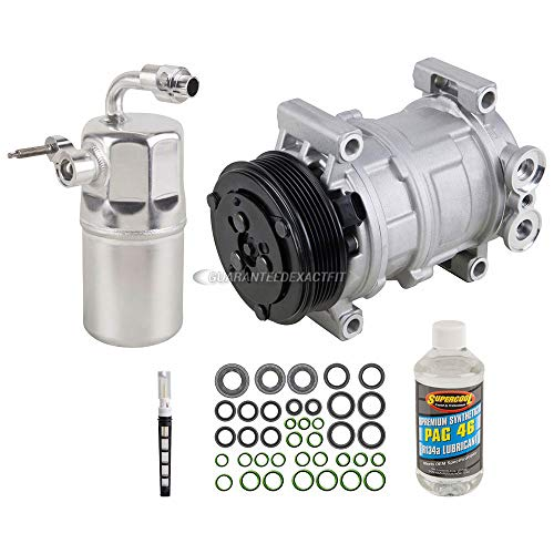 AC Compressor w/A/C Repair Kit For Chevy Silverado GMC Sierra 1500 1999 2000 2001 2002 - BuyAutoParts 60-80166RK New