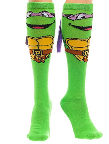Teenage Mutant Ninja Turtles Womens Donatello With Mask Knee High Socks 1 Pair (Female Ninja Turtles)