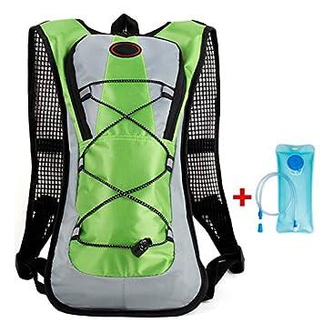 asosmos – Mochila de hidratación Viaje Mochila con bolsa de agua 2L Sistema de hidratación Mochila