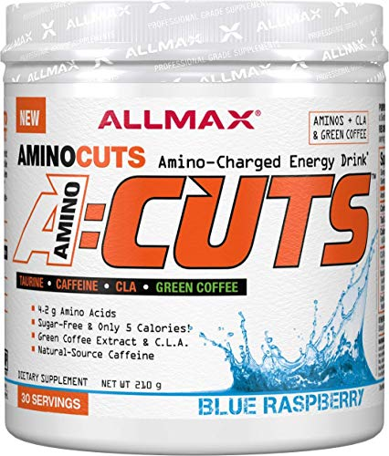 ALLMAX Nutrition A:CUTS, Amino Charged Energy Drink, Blue Raspberry, 210g