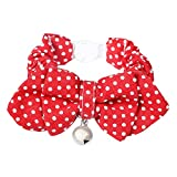 Cat Collar Bowtie with Reflective Bell, Comfortable Adjustable Breakaway Pet Cat Collars 7-12 inch