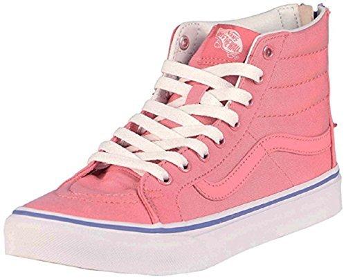 Vans Unisex Sk8-Hi Slim Zip Skate Shoe-Wild Rose-7.5-Women/6-Men