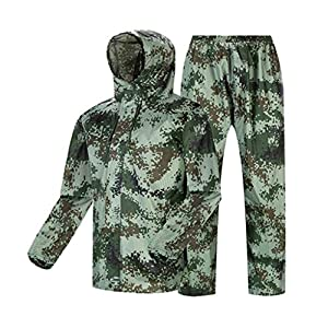 Qivor Waterproof clothing Raincoat Rain Pants Suit Fashion Camouflage Outdoor Waterproof Split Raincoat Unisex, Suitable…