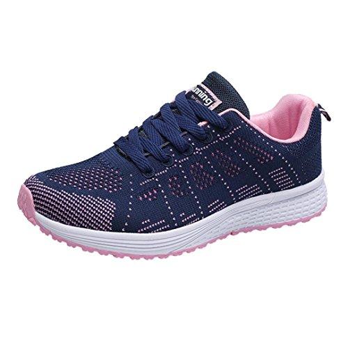 Sportive Beautyjourney Estive Donna Casual Lavoro Corsa Sneakers Moda Blu Stringate Scarpe Ginnastica Eleganti Da RR1A6