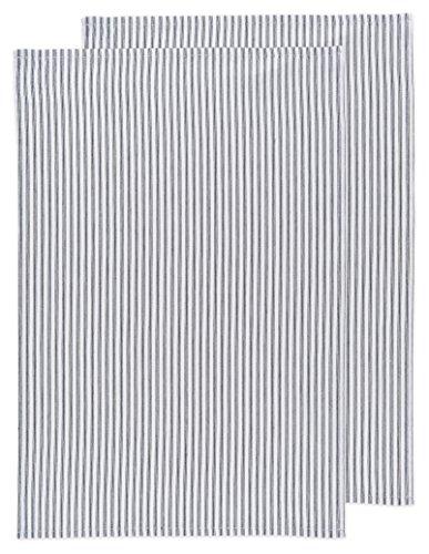 (Now Designs Glass Tea Towel, Black, Set of 2)