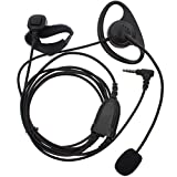 KENMAX D Shape Earpiece Headset with Finger PTT Boom Mic for Two Way Radio Yaesu VX-1R FT-50 VX-10 VX-110 VX-210 VXF-1