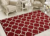 Sweet Home Stores Clifton Collection Red Moroccan Trellis Design (5' X 7') Area Rug