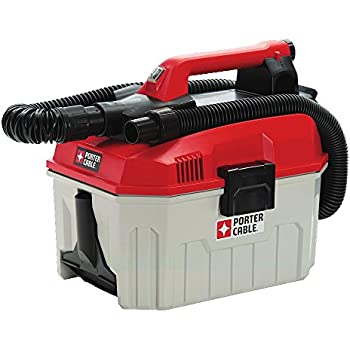PORTER-CABLE 20V MAX Cordless Shop Vacuum, Wet/Dry, 2-Gallon, Tool Only (PCC795B)