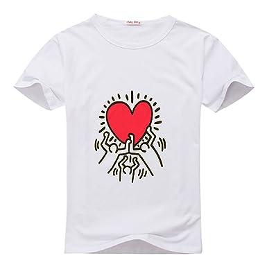 weileDIY Keith Haring DIY Custom Classic Men T-Shirt Tshirt PXbr8