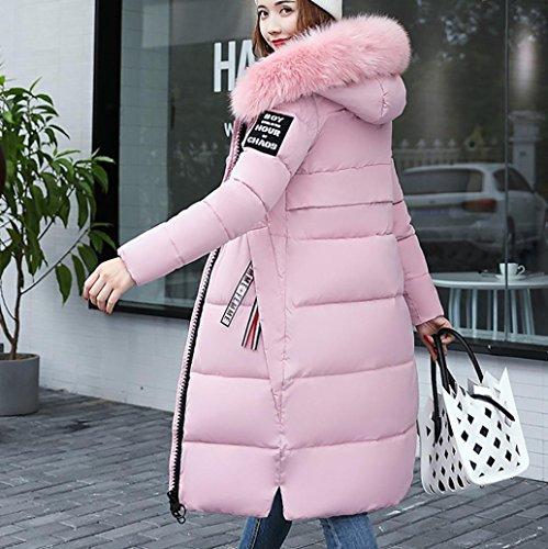 ?? Down Lammy Coat Women, Xinantime Ladies Winter Casual Jacket Solid Slim Overcoat Hooded Down Padded Warm Parka Outwear Oversize Jacket Faux Fur Collar Slim Coat Pink