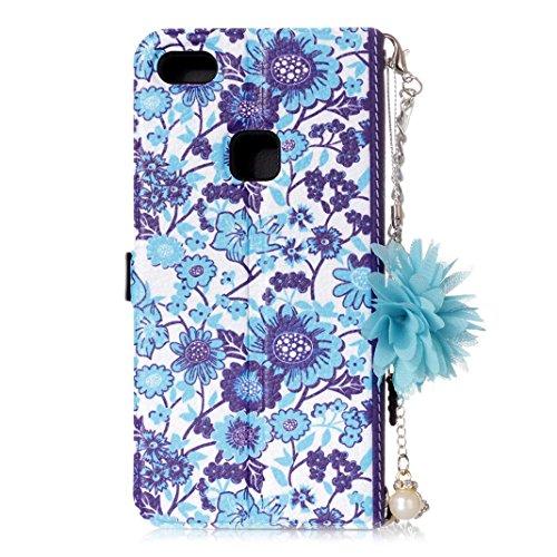 Huawei P10 Lite Leather Phone Case, Moon mood Flip Wallet