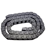 2M 2000mm Black Long Nylon Cable Drag Chain Wire Carrier 10 x 15mm