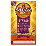 Metamucil Daily Fiber Supplement, Orange Smooth Sugar Free Psyllium Husk Fiber Powder Packets, 44 Singles