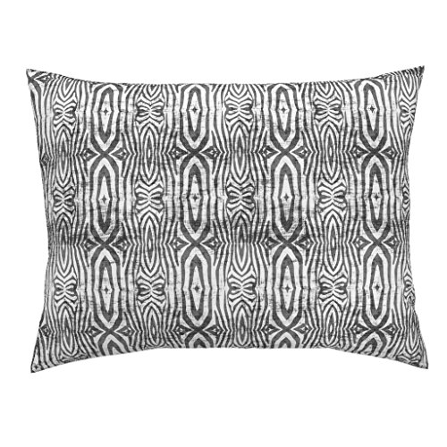 (Roostery Safari Zebra Animal Grunge Linen A358 Euro Knife Edge Pillow Sham Safari_Zebra_Grunge by Holli Zollinger 100% Cotton Sateen)