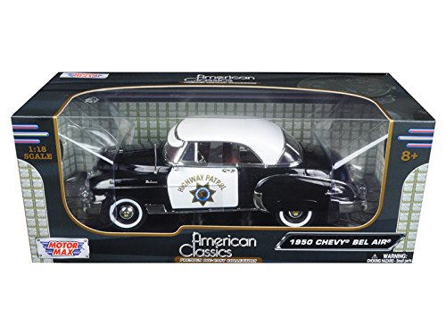1950 Chevrolet Bel Air California Highway Patrol (CHP) 1/18 by Motormax (1950 Chevrolet Bel Air Vehicle)