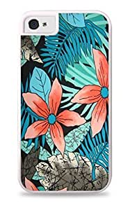 phone covers good case Blue & Black Floral White 2-in-1 protective case cover with Silicone Insert for Apple iPhone Baslkg316tx 5c / 5c