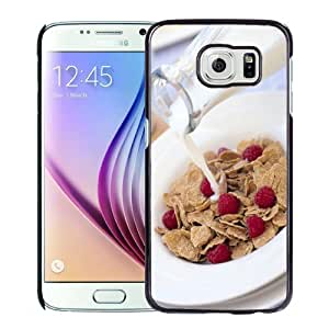 Beautiful Custom Designed Cover Case For Samsung Galaxy S6 With Milk and Muesli Phone Case WANGJING JINDA