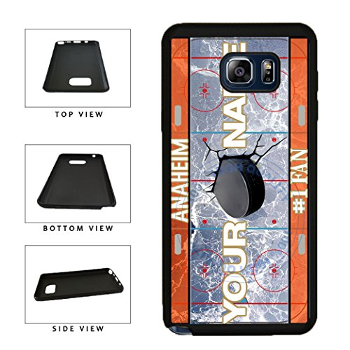 BleuReign(TM) Personalized Custom Name Hockey Team License Plate Calgary Phone Case TPU RUBBER SILICONE Phone Case Back Cover For Samsung Galaxy S8 (Calgary Flames Hybrid)